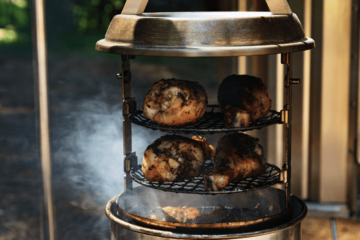 Snow Peak Launches Layered, Vertical Stainless Steel Smoker, The Smokemeister