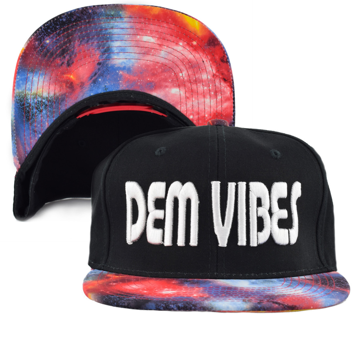 Dem Vibes Red Space Snapback Hat