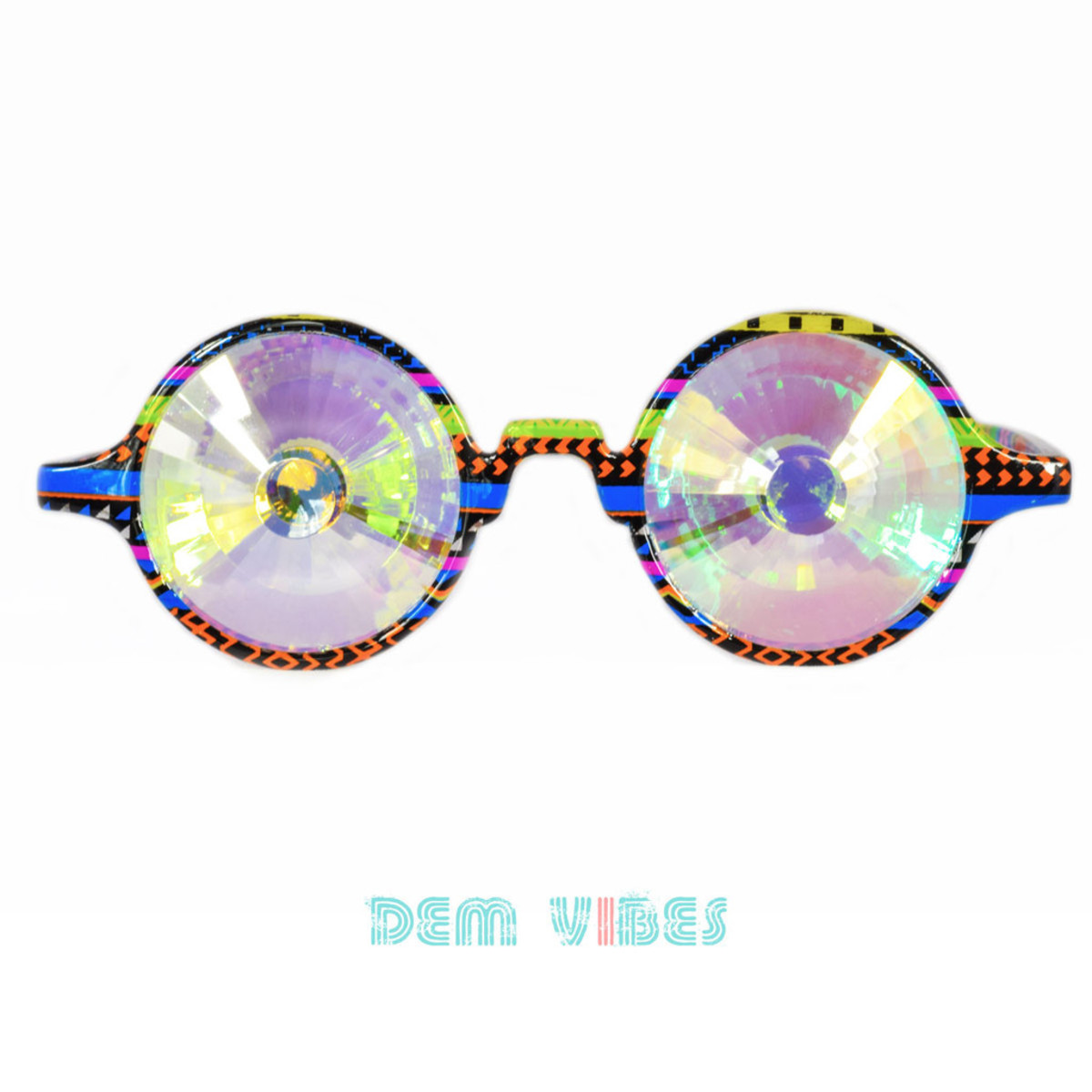 Dem Vibes Rainbow glasses
