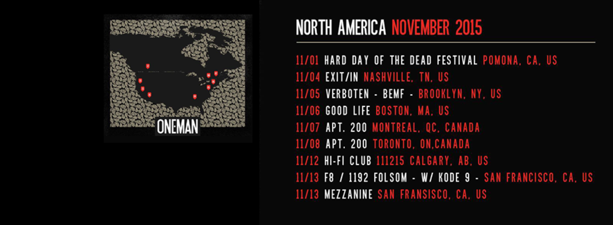 oneman tour dates