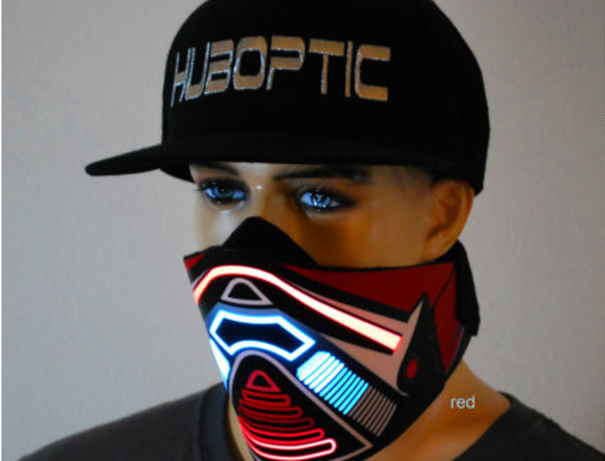 Custom DJ Jog Sound Reactive Mask
