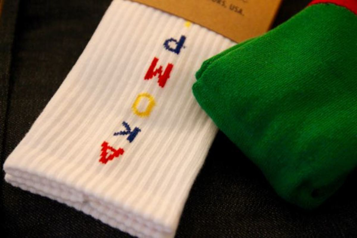 Old School tube socks / multi-colored logo