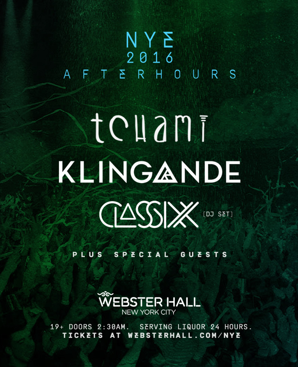 NYE Afterhours for Webster Hall