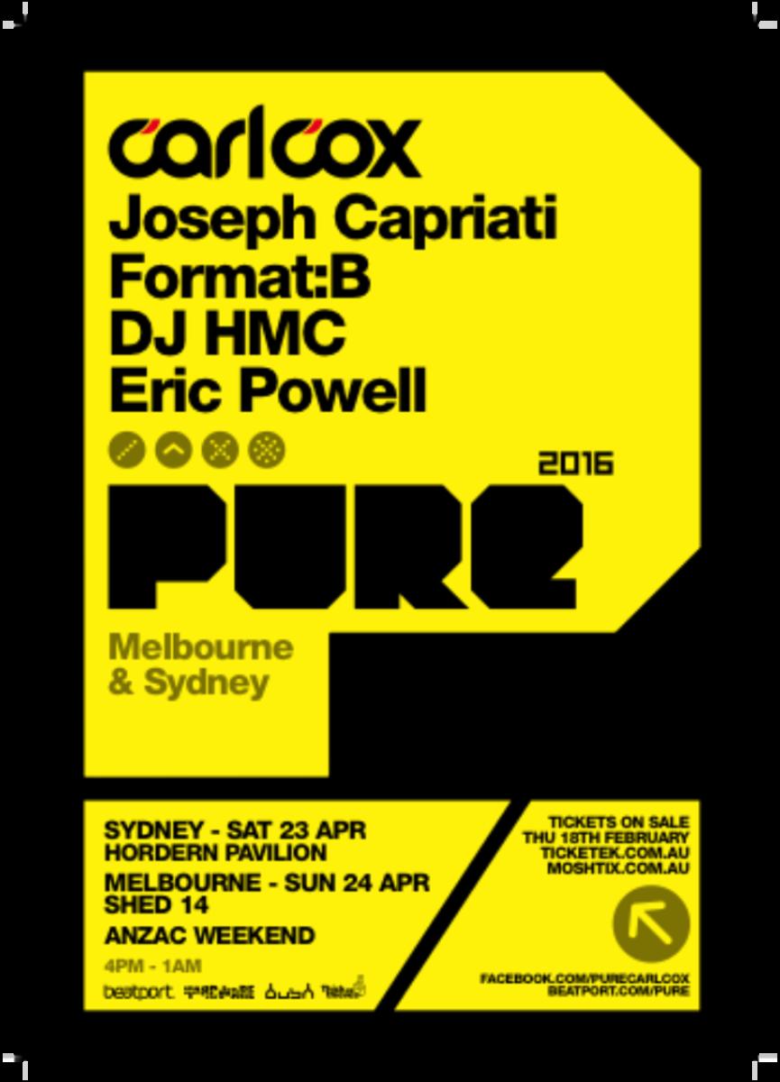 Carl Cox Pure festival