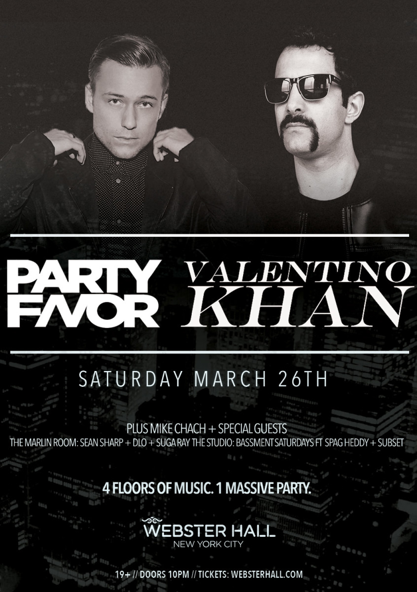 Party Favor & Valentino Khan Tickets Here