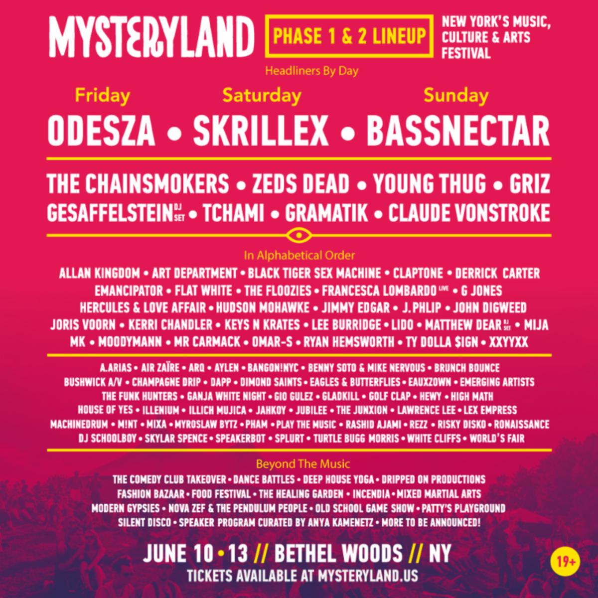 Mysteryland 2016 lineup