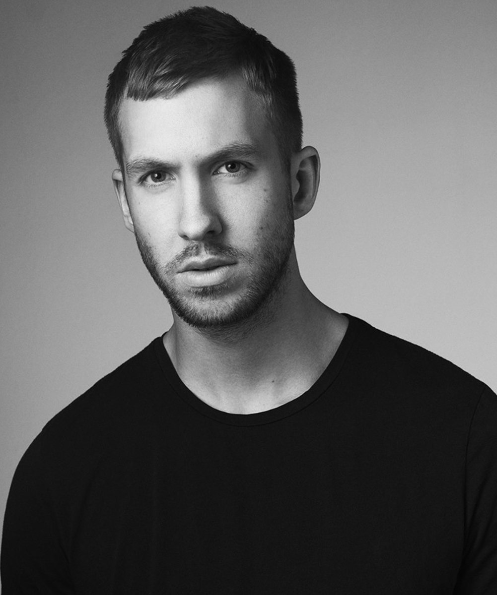 Calvin Harris black and white