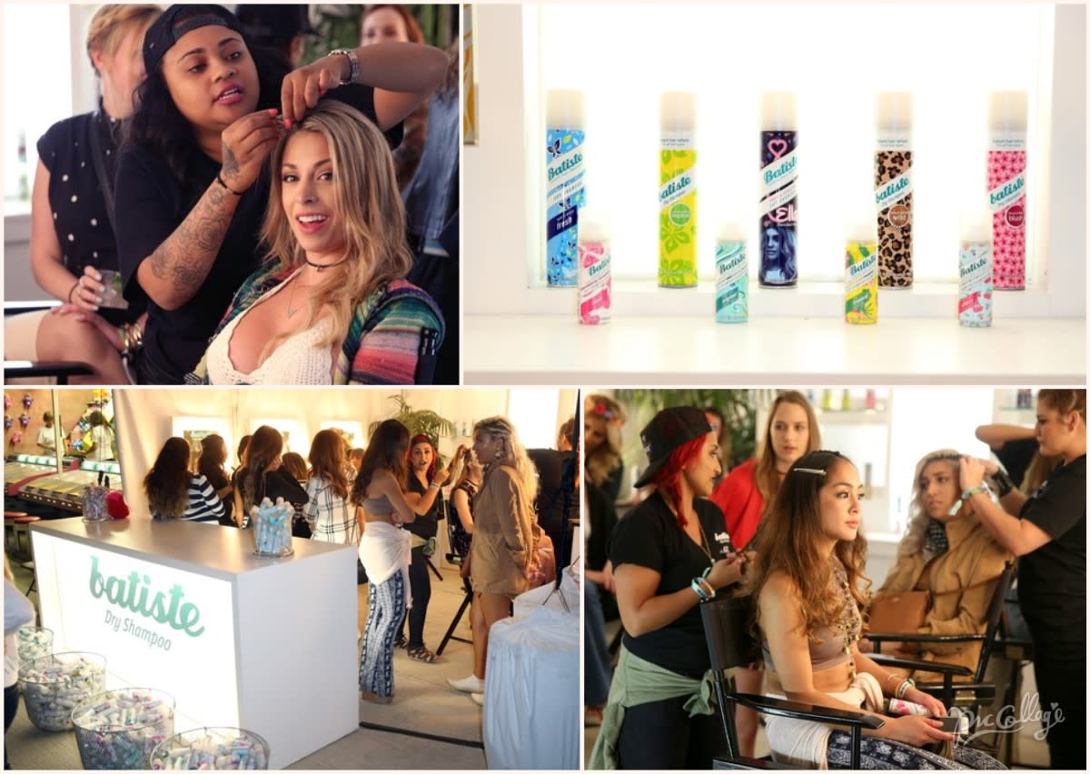 Batiste to the rescue with the beauty refresher tent