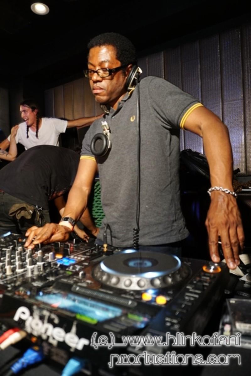 DJ Clifton holding it down.