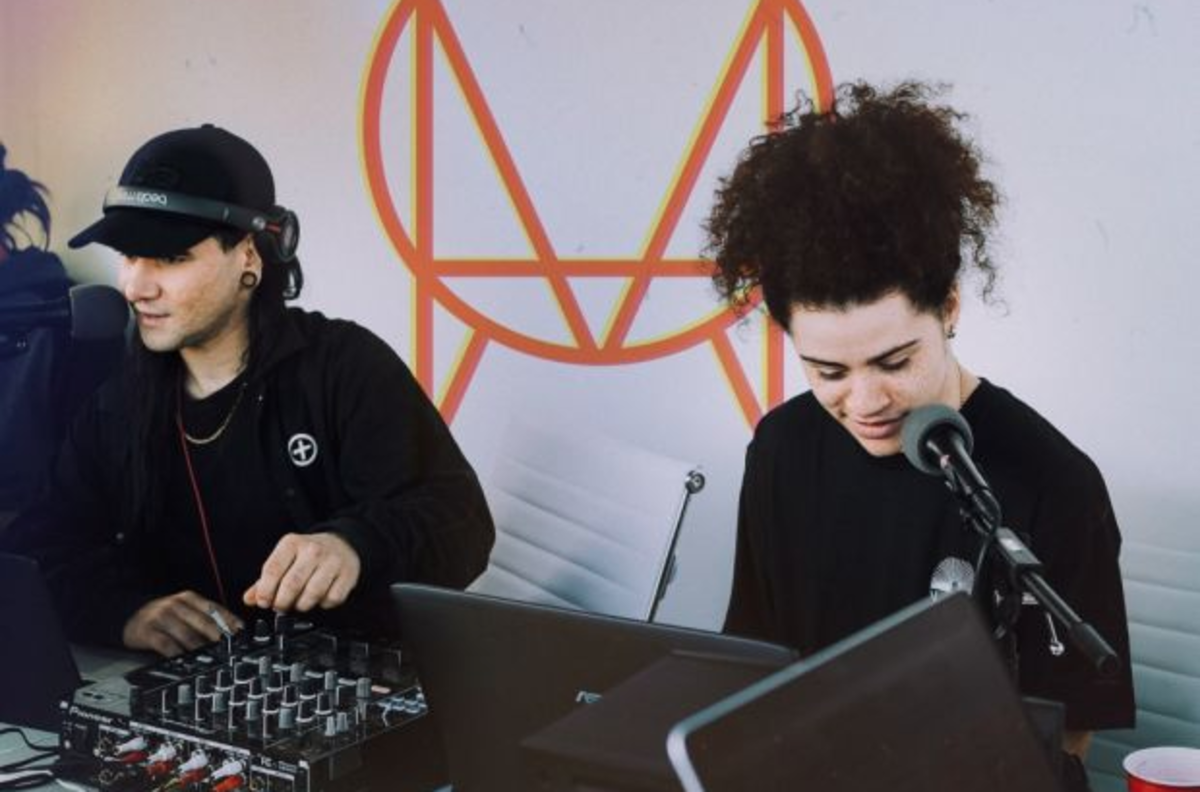 Skrillex and Oshi (photo via OWSLA)