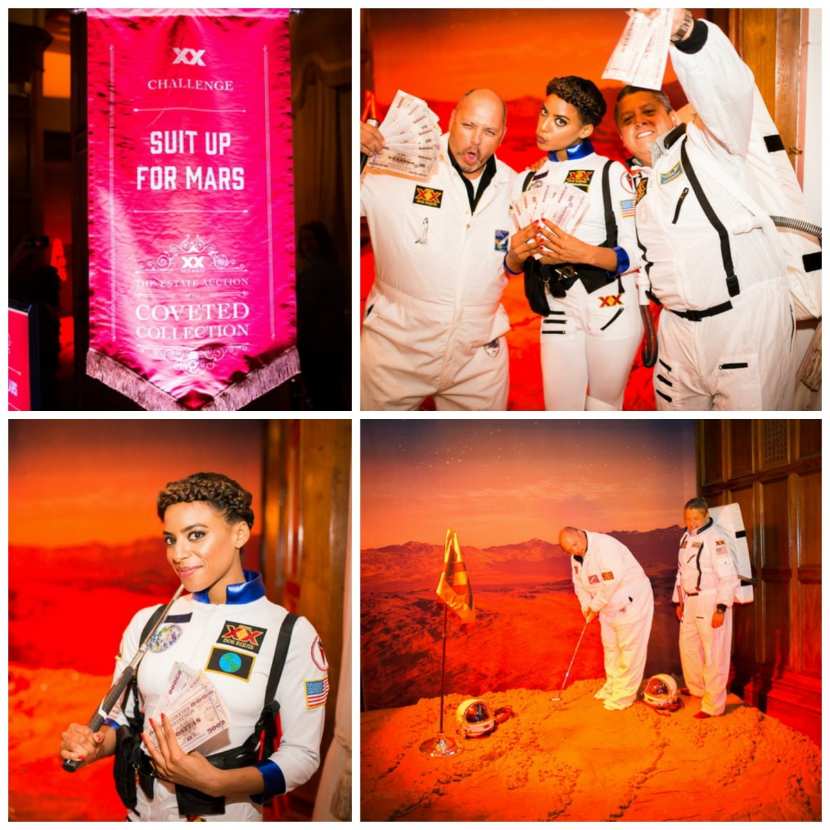 trump can keep his lame golf courses... we're putting on Mars bitches! (photos provided by Dos Equis)