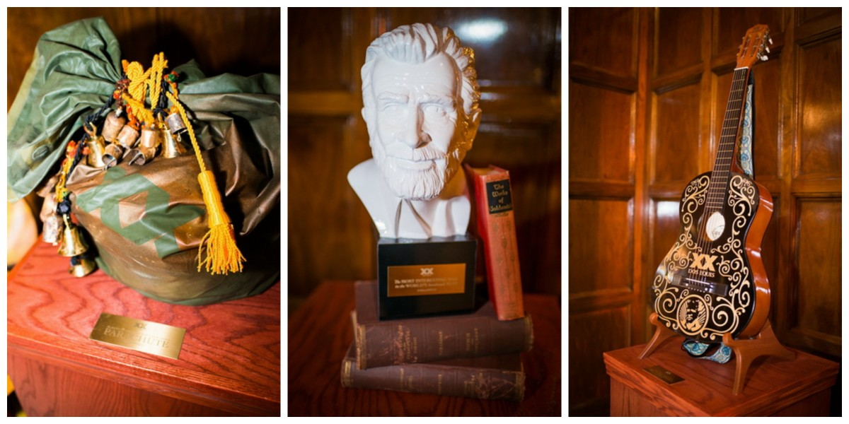 a parachute, a bust of the most interesting Man in the world & his beloved guitar (photos provided by Dos Equis)