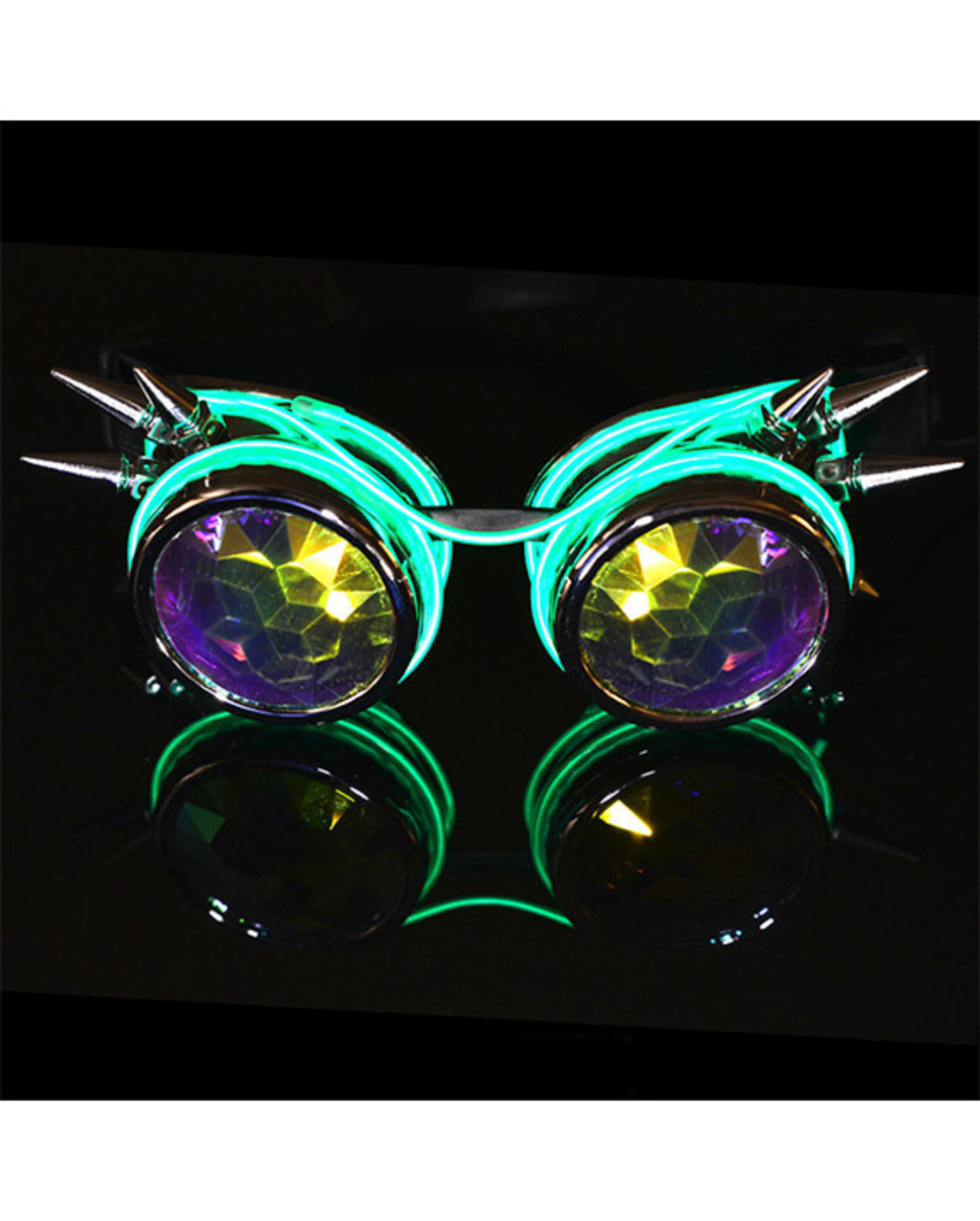 Customizable Luminescence Kaleidoscope Goggles