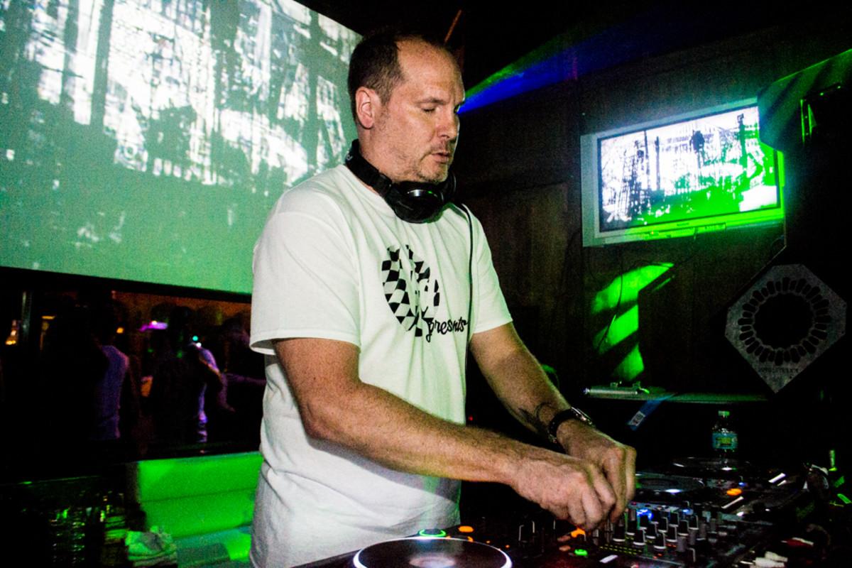 Blu resident DJ and Keepin' It Deep Co-Founder John Larner revs up the Blu dancefloor. Photo: Jeremiah Williams
