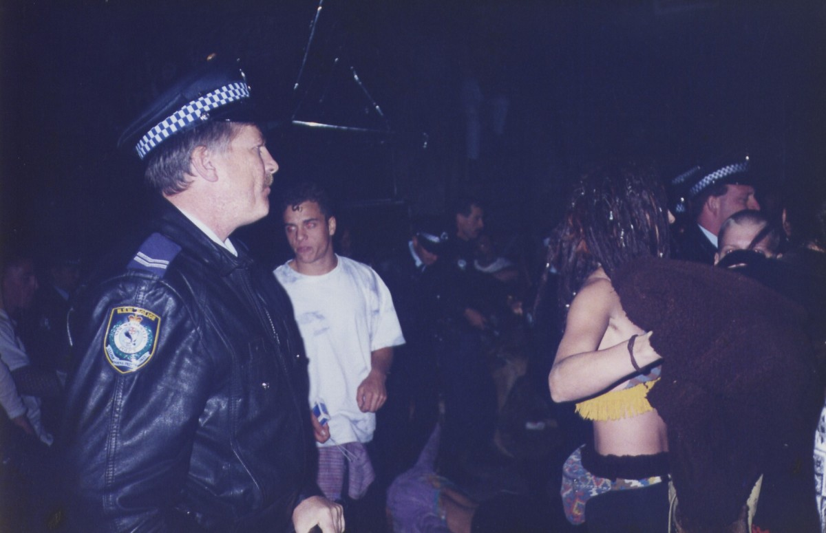 Police Officer at a rave (photo by Matthew Spong)