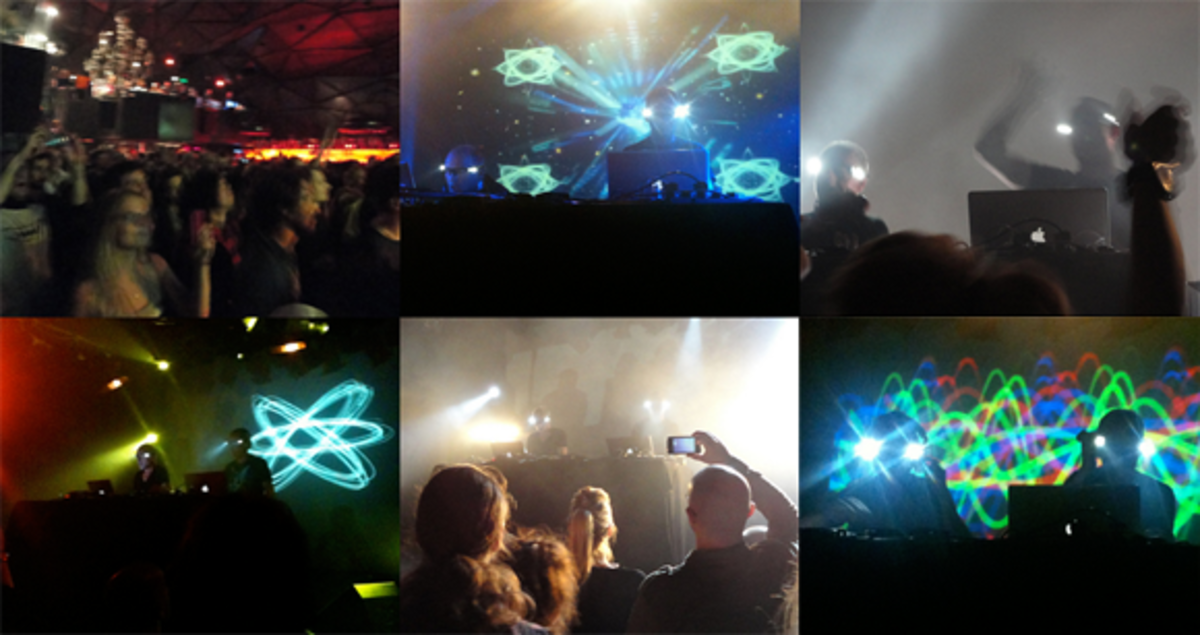 Orbital live, montage, at club Nouveau Casino in Paris, 2012