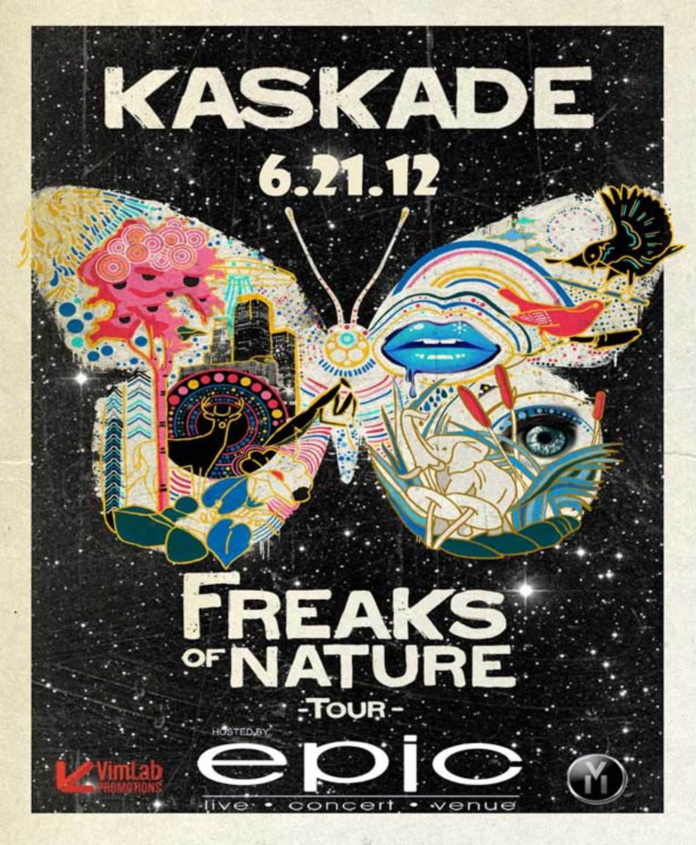 "Club Flyers: Sewer Art or EDM Cultural Cipher? Dissecting Kaskade's ""Freaks Of Nature"" Tour Art"