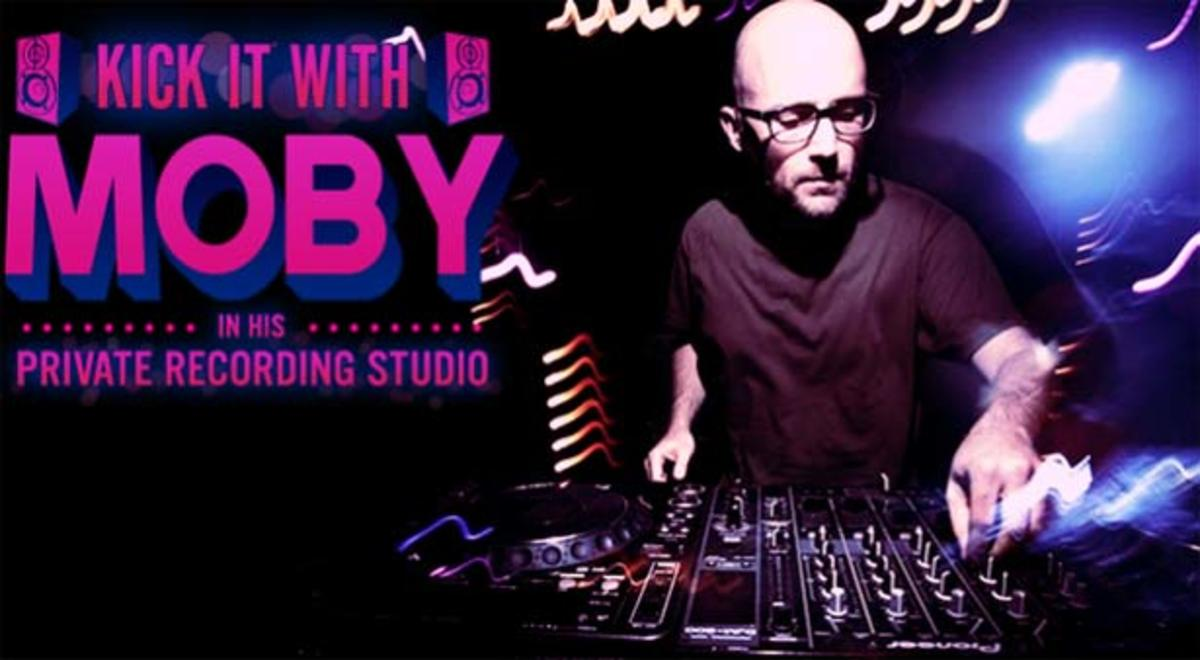 Contest: Kick It With Moby In His Private Recording Studio—In The Name Of Charity