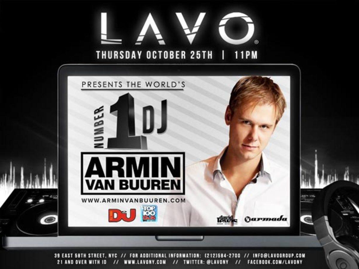 DJ Magazine's Top Man, Armin van Buuren Playing LAVO NY This Thursday