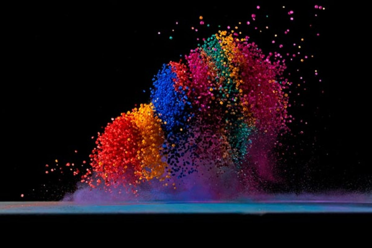 Dancing Colors: Making Sound Waves Visible By Fabian Oefner