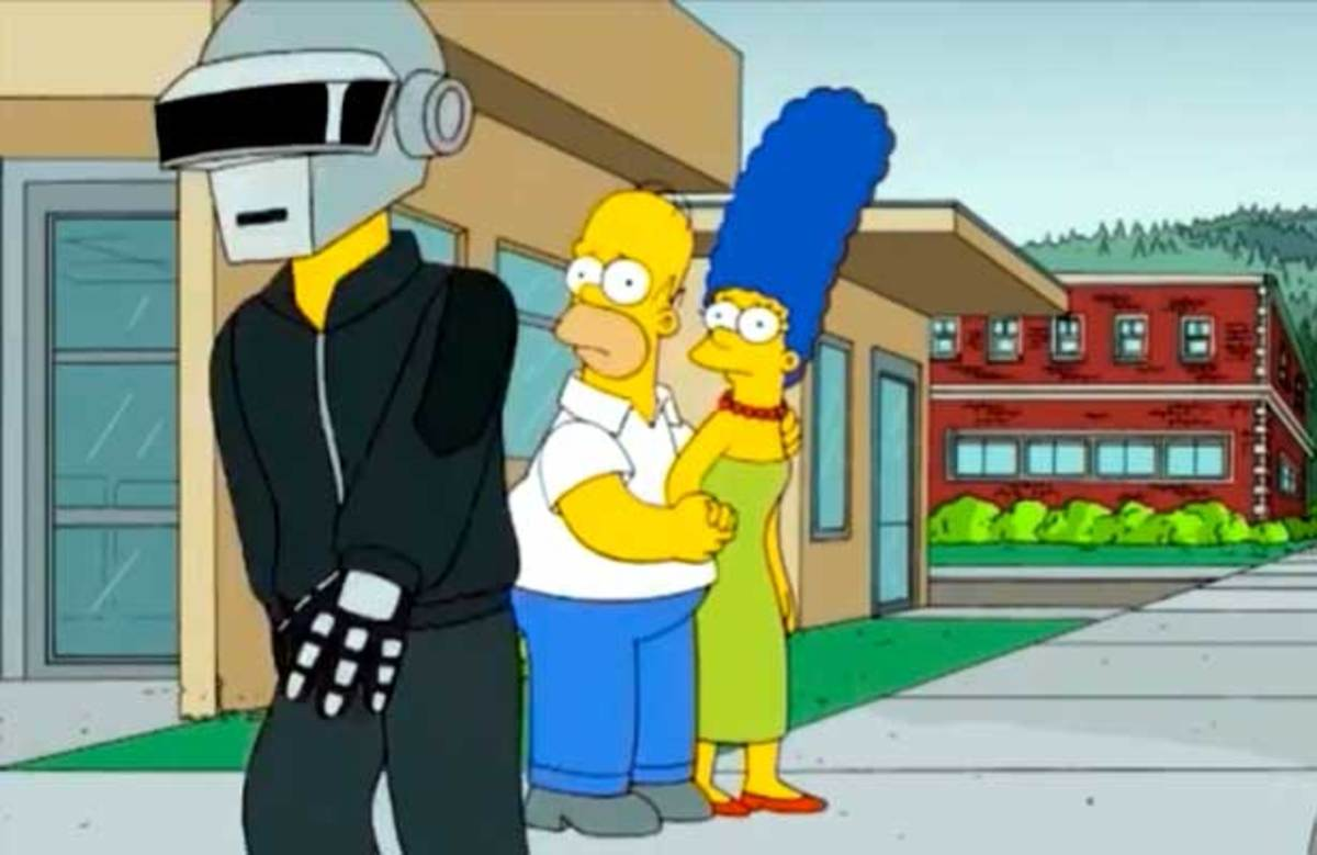 EDM Culture Everywhere: Daft Punk x The Simpsons