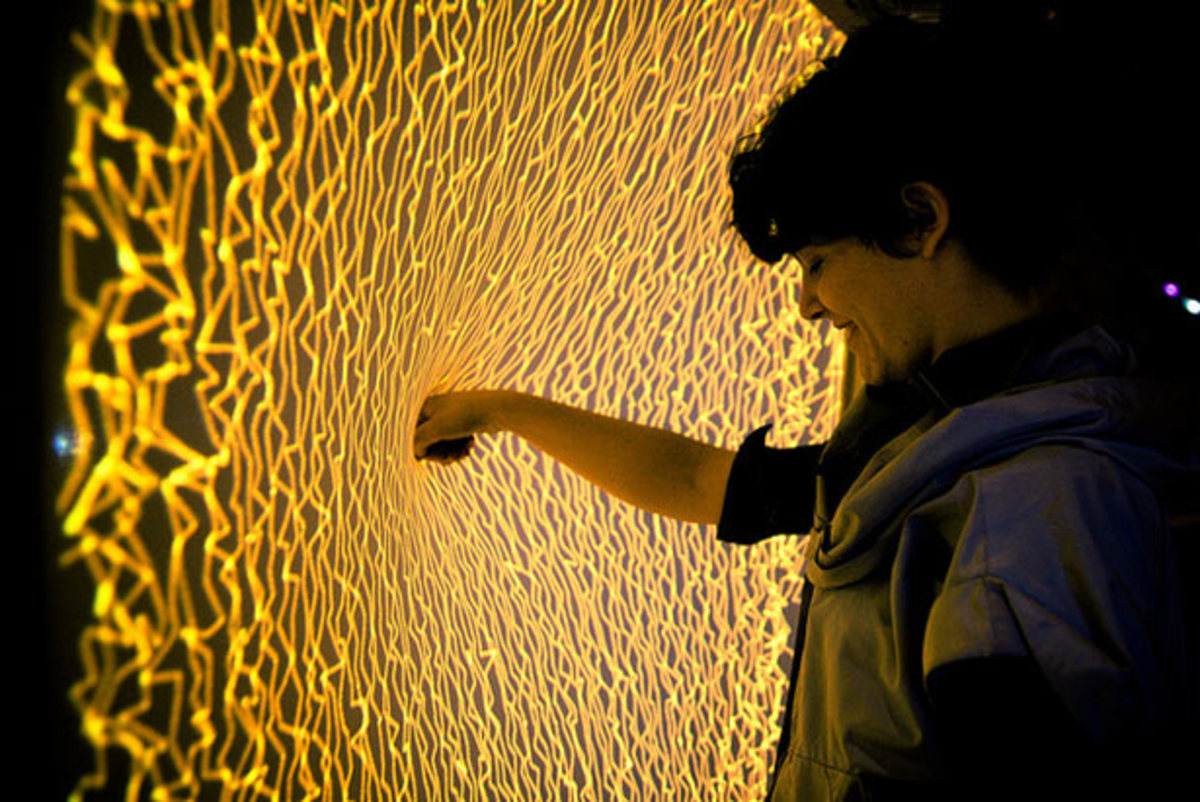 Interactive Media Installation: Firewall by Aaron Sherwood & Mike Allison
