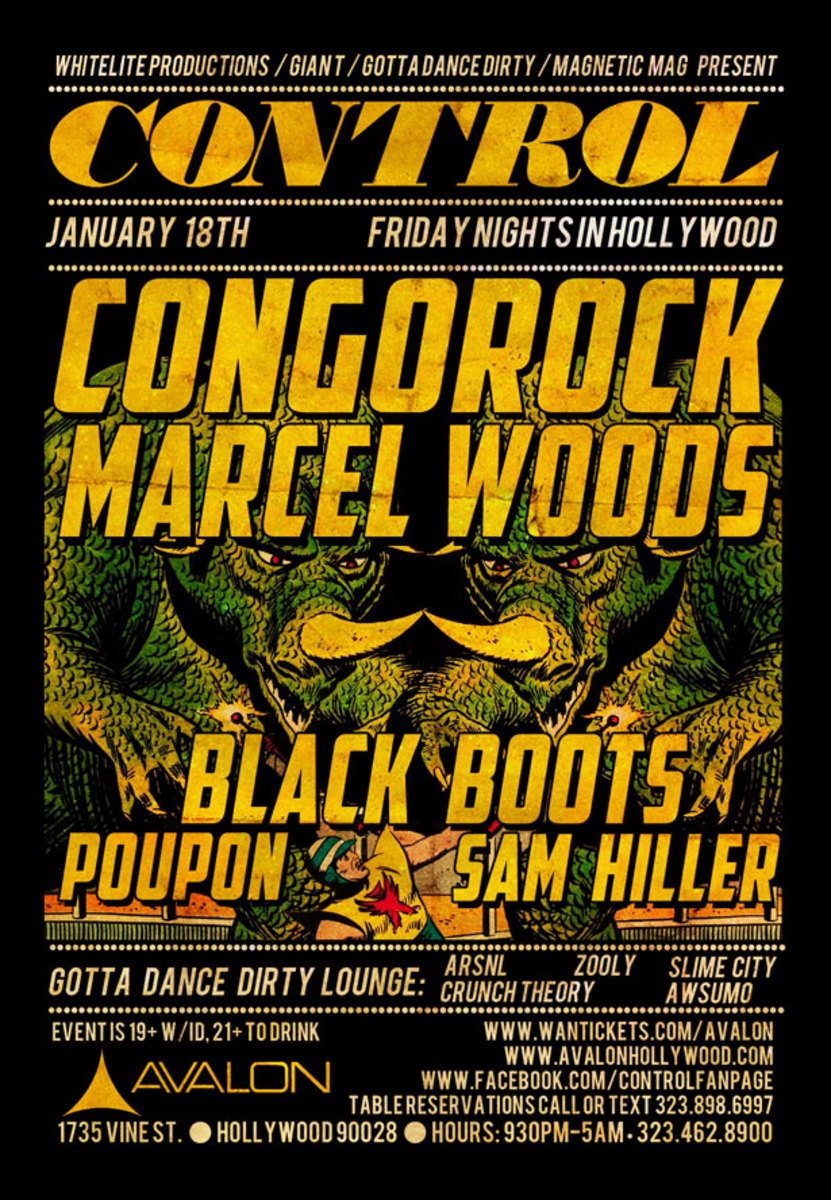Event: Control with Congorock, Marcel Woods, Black Boots, Poupon & Sam Hiller—Plus Win A Pair Of V-Moda Crossfade M-100 Headphones