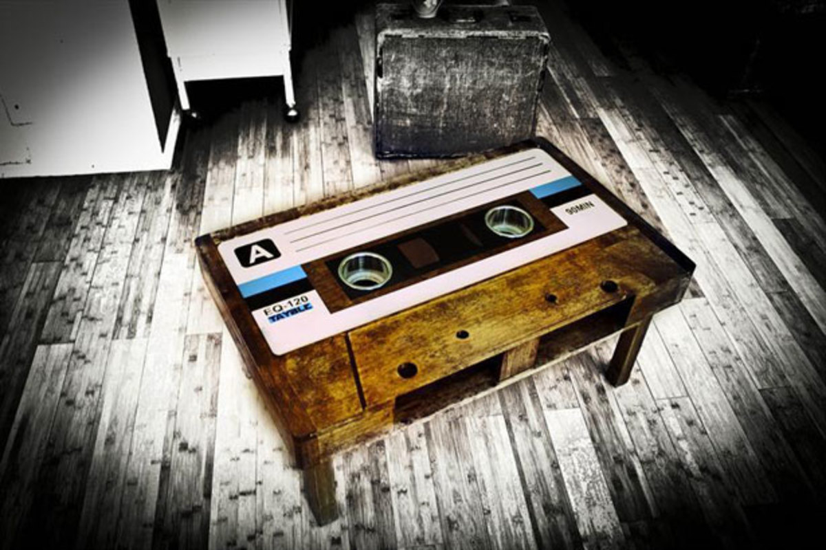 Want: Cassette Tape Coffee Table by Tayble—Functional Furniture Meet Nostalgic Art
