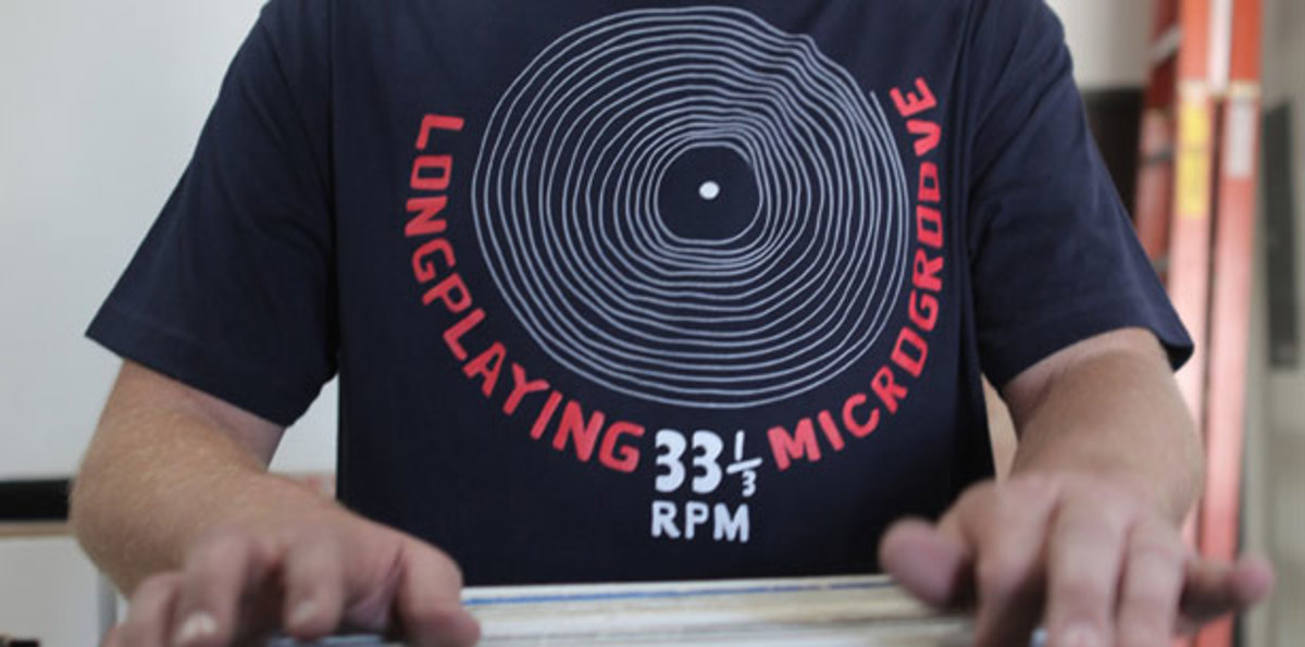 Want: Longplaying Microgroove T Shirt by 101 Apparel