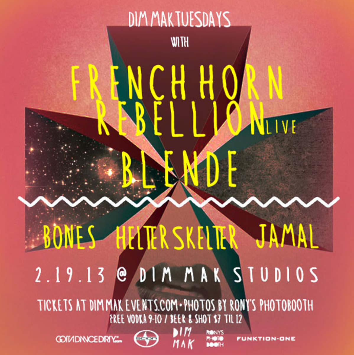 Los Angeles Event: French Horn Rebellion & Blende Tonight at Dim Mak Studios