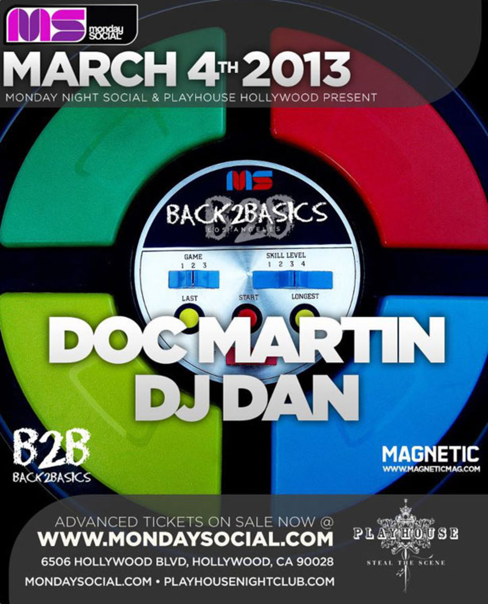 Los Angeles Event: Monday Night Social with Doc Martin and DJ Dan