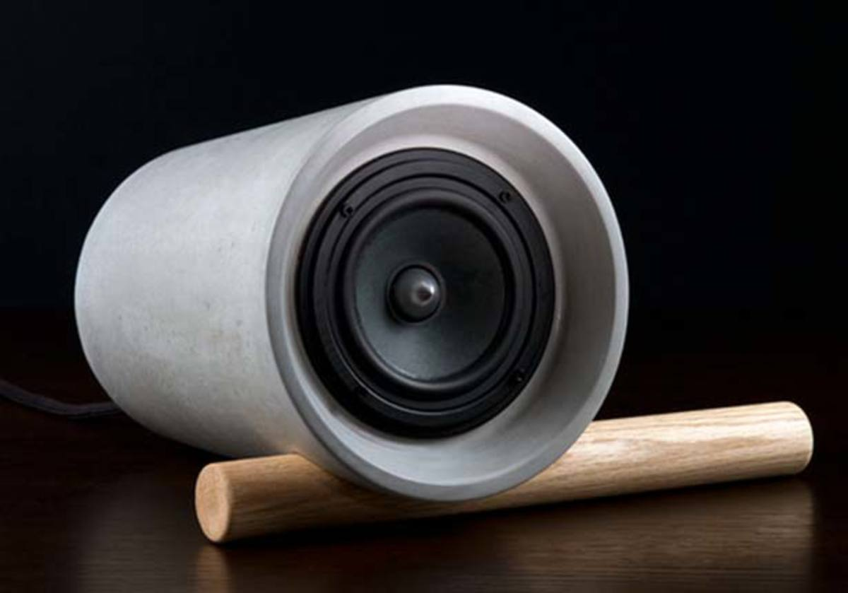 Jack Speaker by An/Aesthetic—Hand Crafted From Concrete and Wood