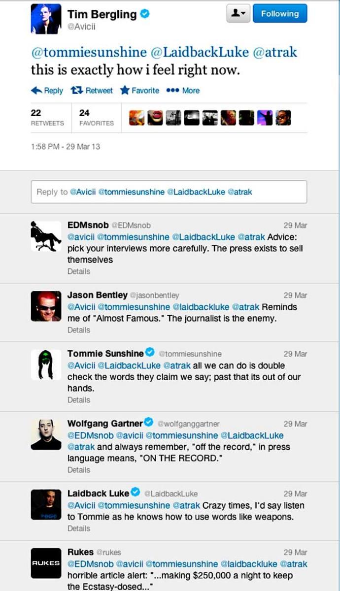 Twitt Talk: DJs Chime In On Avicii's GQ Article