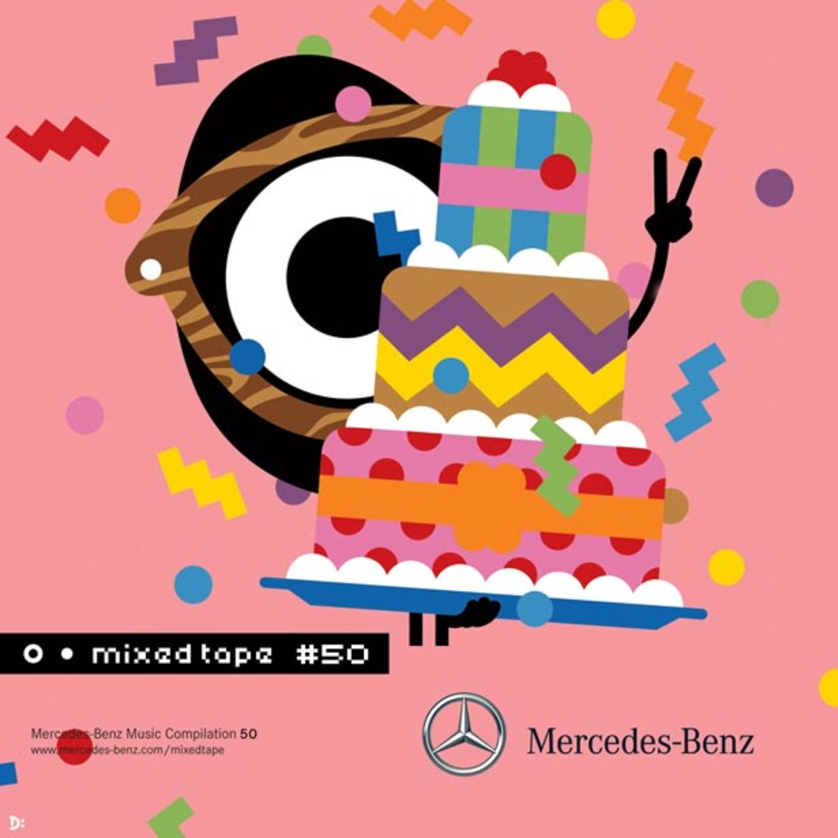 Mercedes-Benz Mixed Tape—Happy 50th Compilation with Cover Art From Darcel Disappoints!