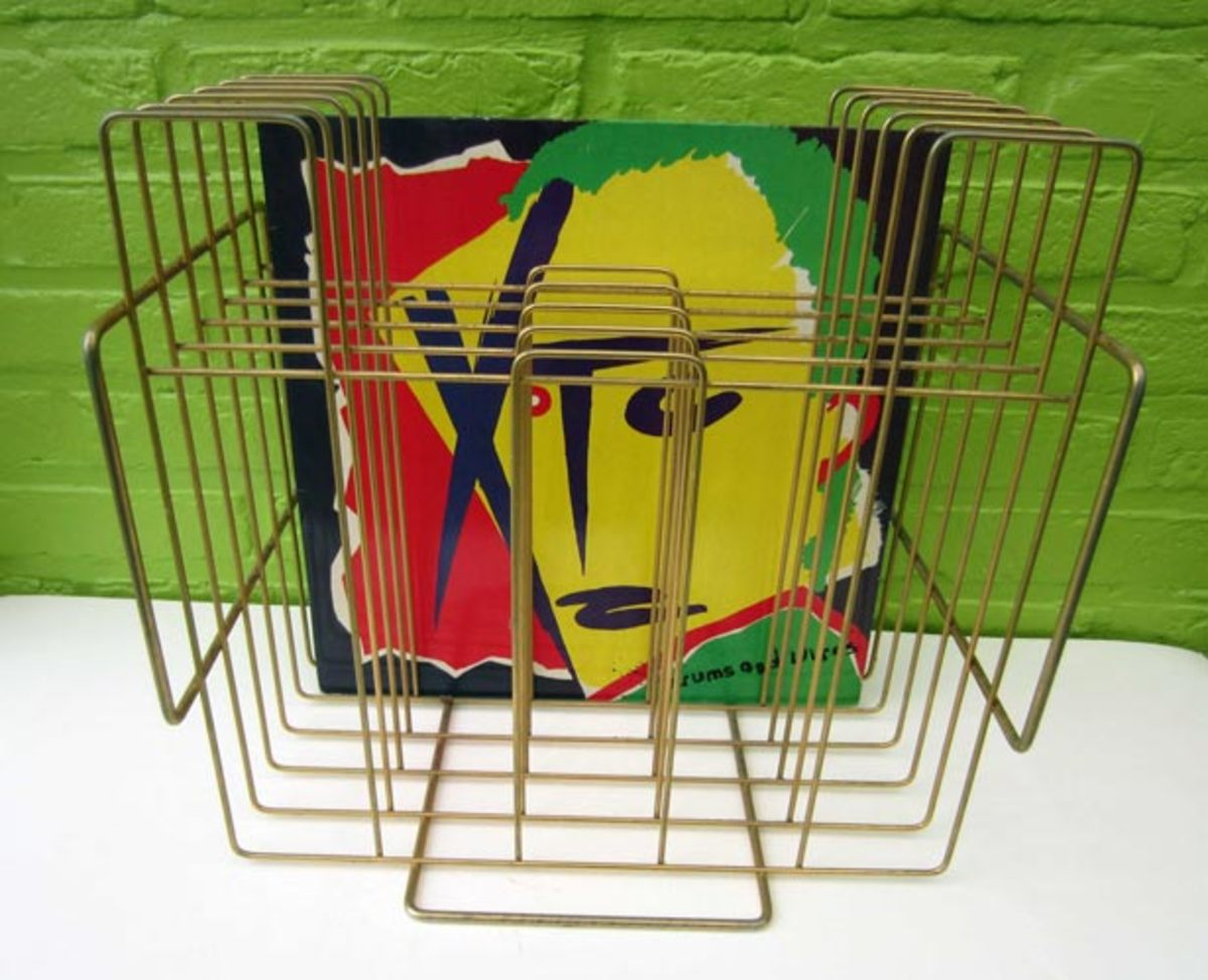 Vintage 1970s LP Record Album Rack