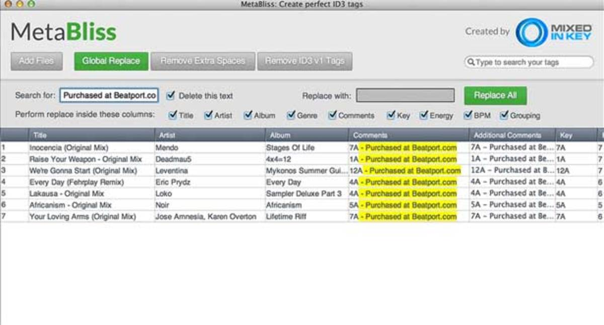 EDM Gear: Clean Up Your ID3 Tags With MetaBliss ID3 Tag Editor