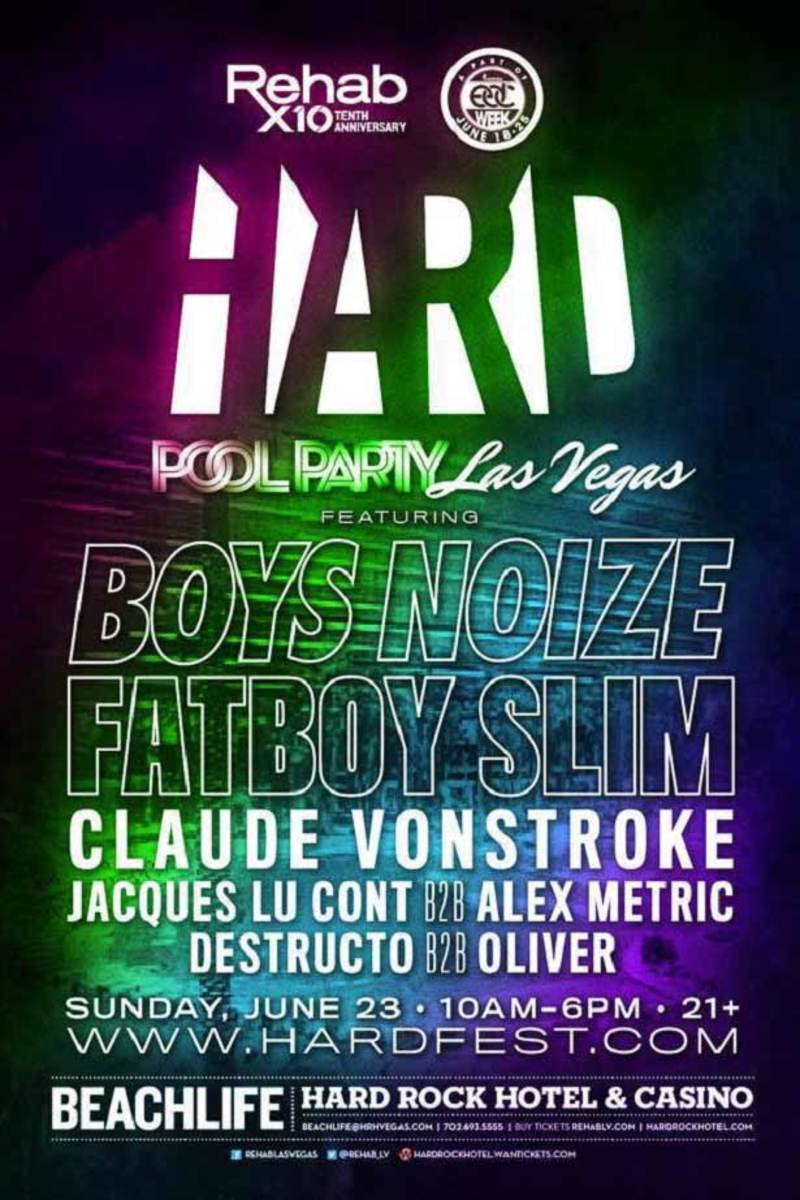 EDM Event: Hard Pool Party Announced With Boys Noize, Fatboy Slim, And Claude VonStroke