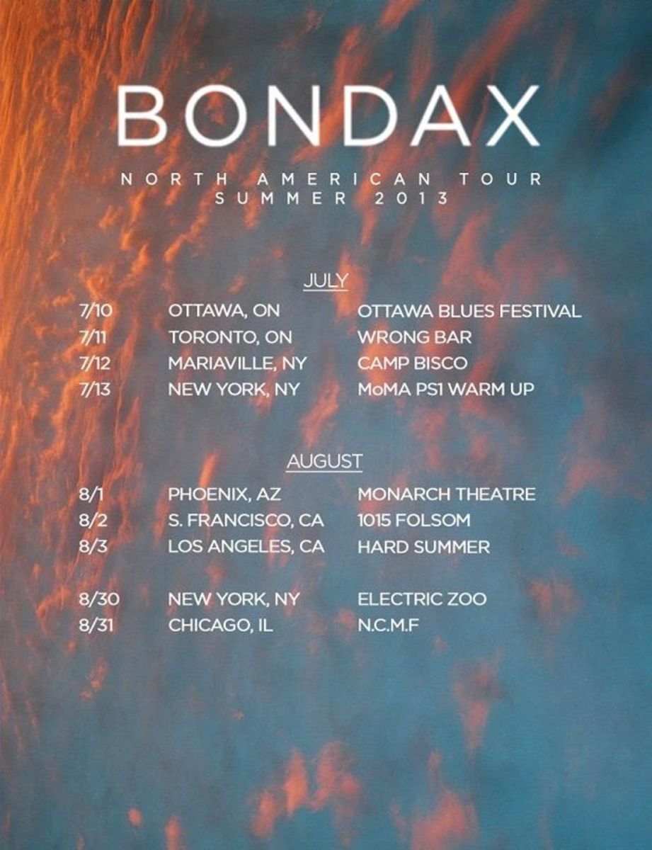 EDM News - Bondax Announces Summer North American Tour
