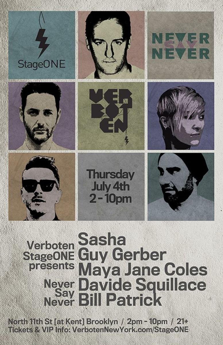 EDM Event: NEVER SAY NEVER: SASHA, MAYA JANE COLES, GUY GERBER GEAR UP FOR VERBOTEN'S STAGEONE INAUGURAL ON JULY 4