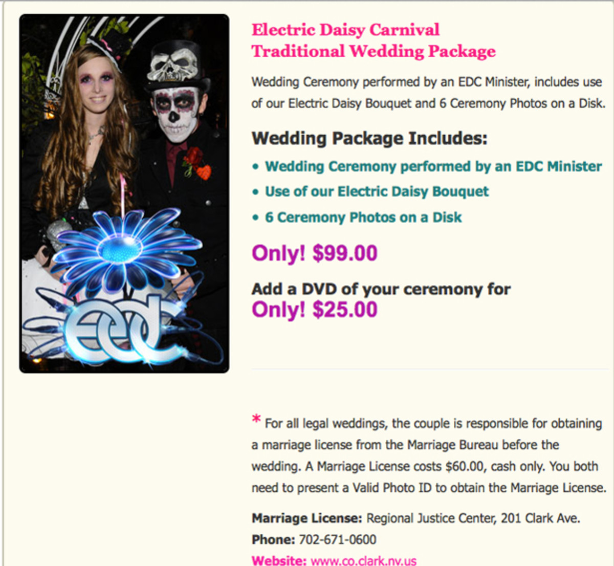get married at EDC