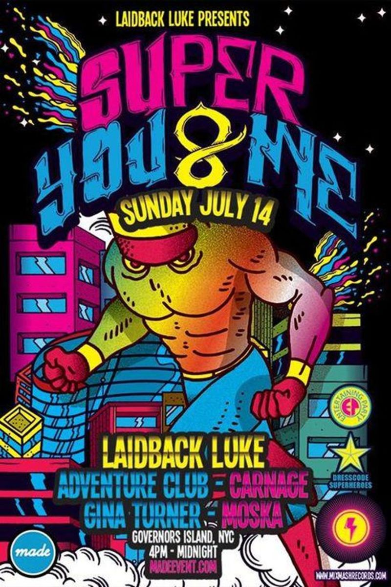 EDM NEWS: Laidback Luke's Super You & Me July 14th at Governor's Beach Club, NYC