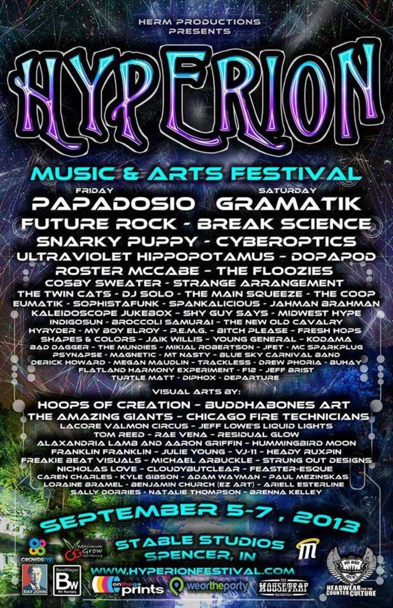 EDM Event: Hyperion Music & Arts Festival Featuring Gramatik, Papadosio, Future Rock And Break Science September 5th Through 7th