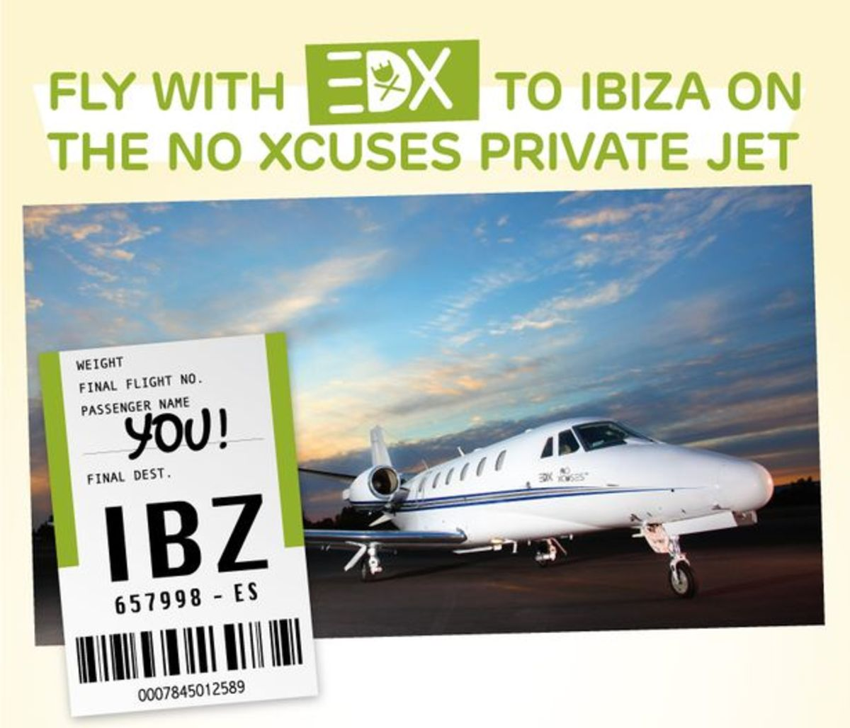 EDM News: Win A Flight On A Private Jet To Ibiza With EDX And VIP Accomodations While On The Island