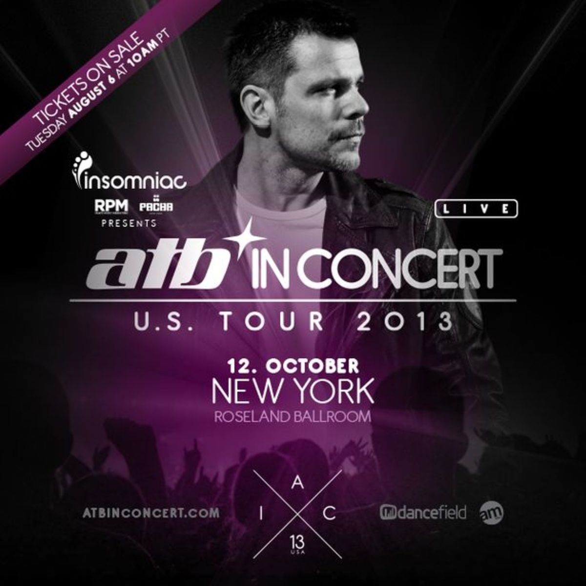 EDM Event: ATB At Roseland Ballroom In NYC October 12, 2013; Tickets On Sale Now
