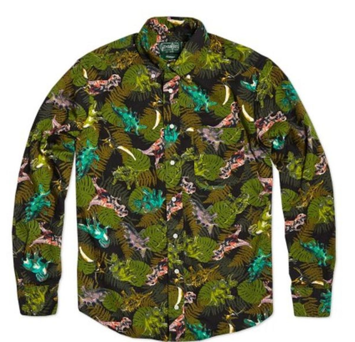 EDM Culture: Gitman Vintage Release Fall/Winter 2013 Shirt Designs; The Dinosaur Is In The Details