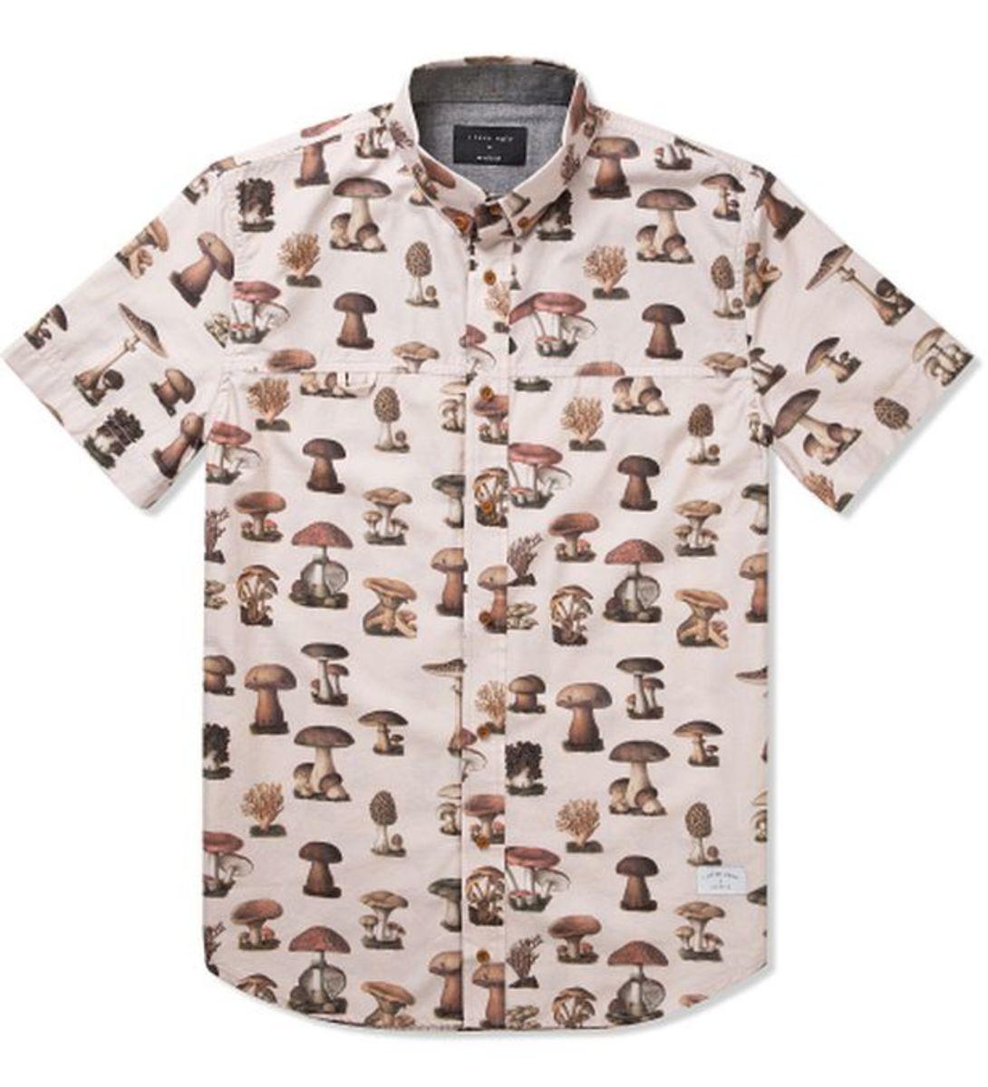 EDM Culture: I Love Ugly's Frankie Mushroom Short Sleeve Shirt