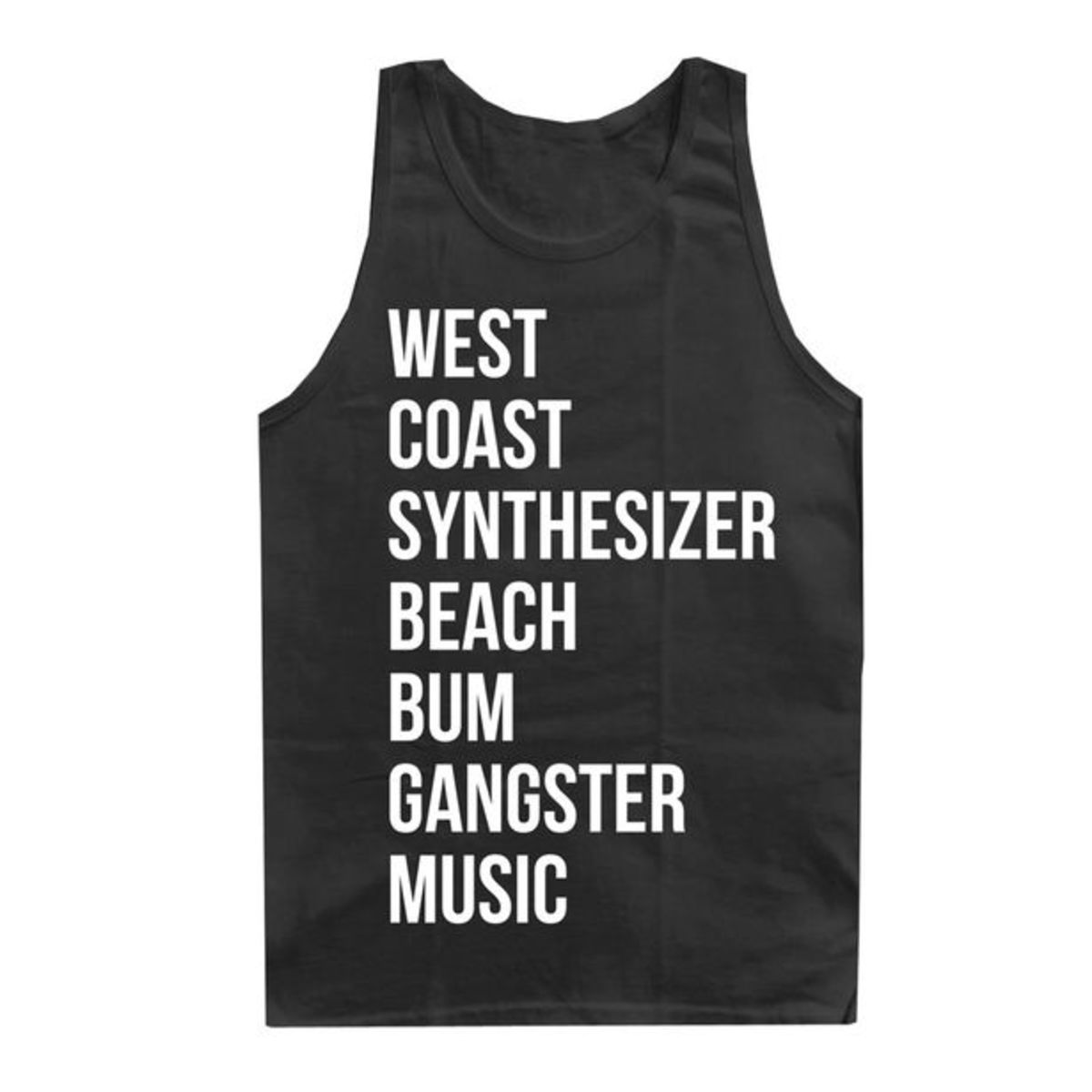 EDM Culture: Limited Edition Westcoastsynthesizerbeachbumgangstermusic Tank Top from King Fantastic