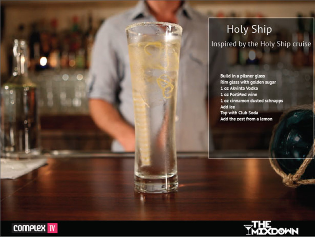 "Magnetic and Complex TV Present The Mixdown: ""Holy Ship"" – A Mixologist Designed Cocktail Inspired By EDM Culture's Infamous Cruise"