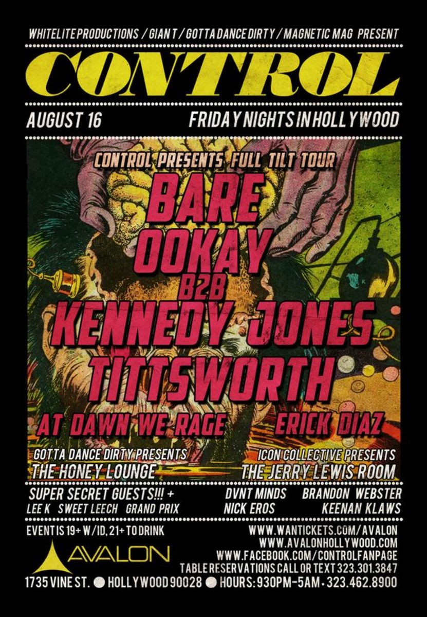 EDM Event: Control Fridays At Avalon-Aug. 16th Bare, OOKAY B2B Kennedy Jones, Tittsworth, Erik Diaz And More