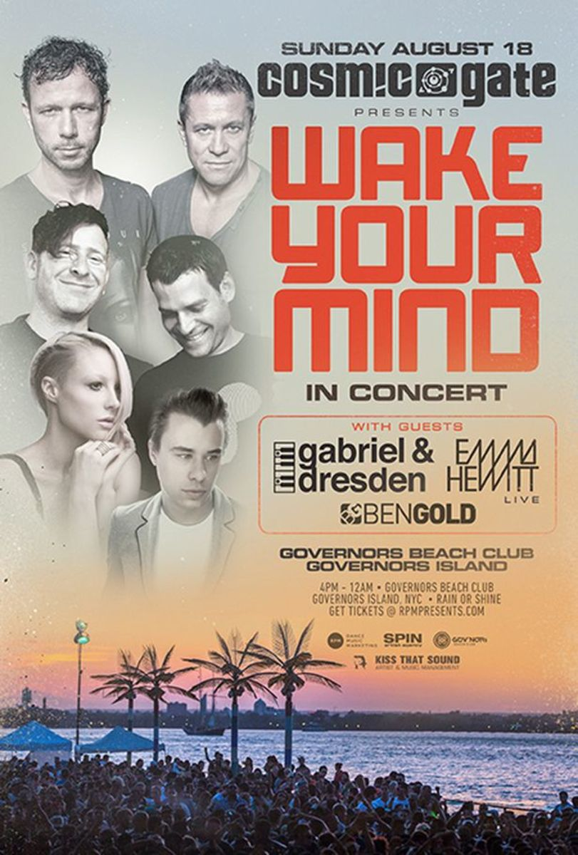 EDM Culture: Wake Your Mind In Concert With Cosmic Gate, Gabriel & Dresden And More- August 18th At Govs Beach Club